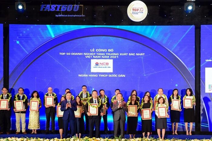 Ngân hàng NCB đã nhận được rất nhiều giải thưởng danh giá